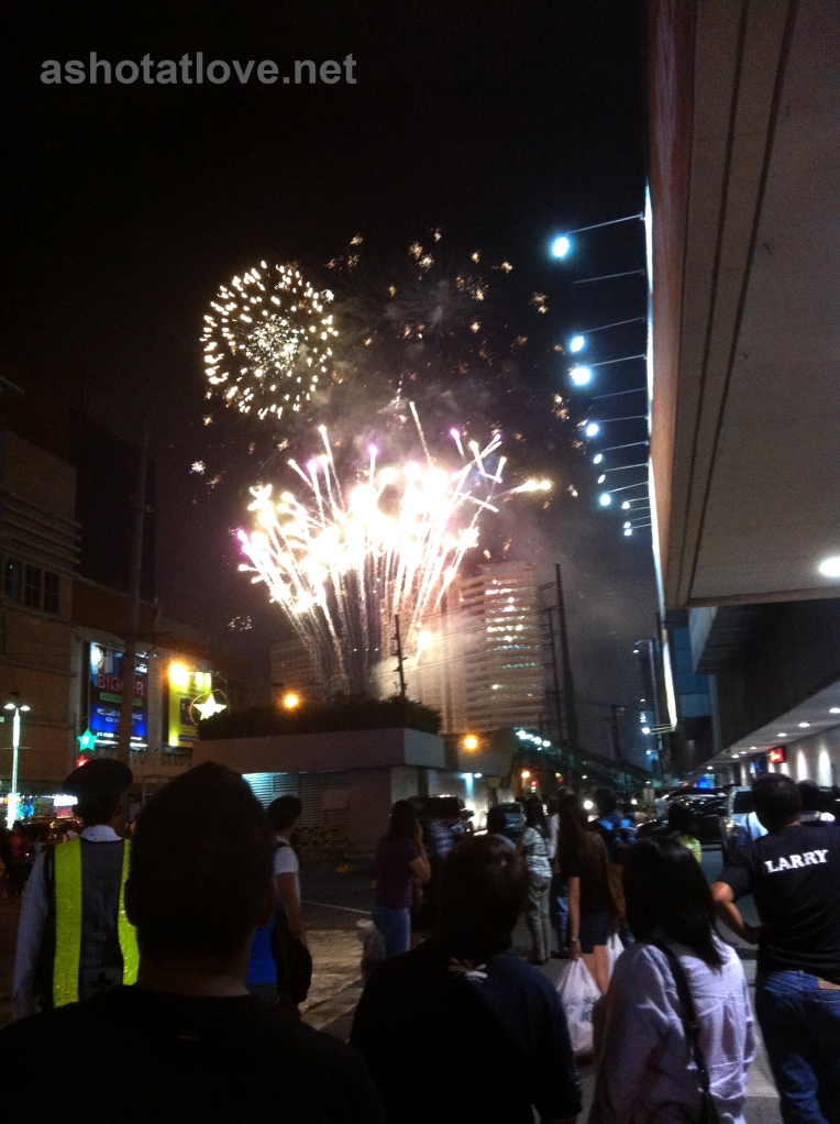 fireworks at ortigas