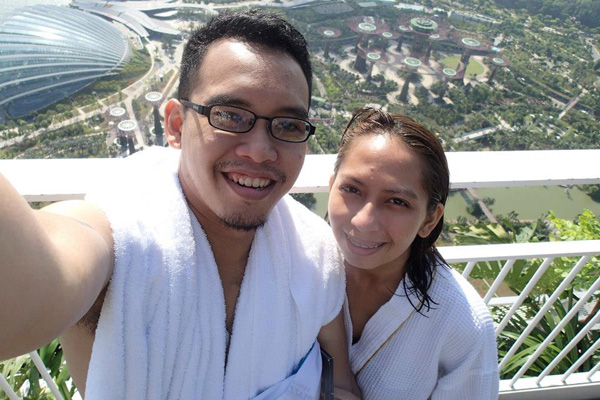 Lek and Pete at Skypark