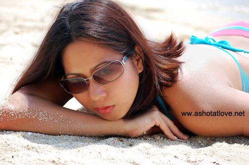 me sunbathing