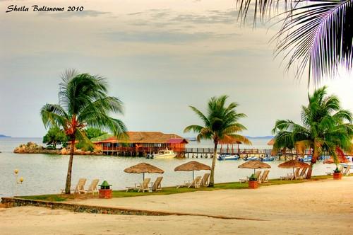 The Agro Beach from afar