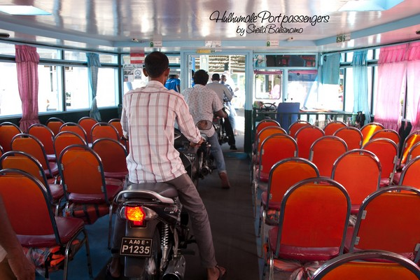 in the ferry going to Male