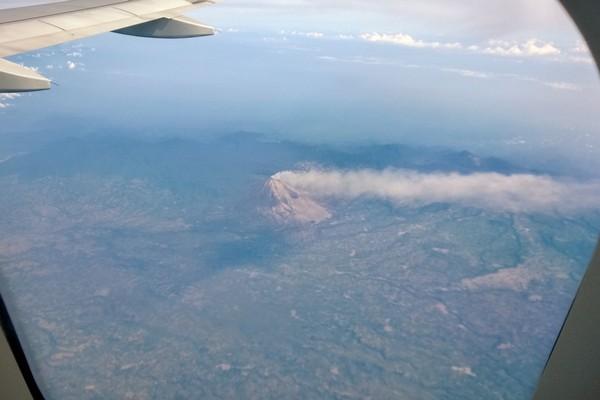 an active volcano in Sumatra