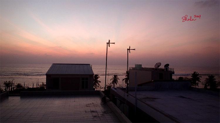 Sunrise view from Newtown Inn