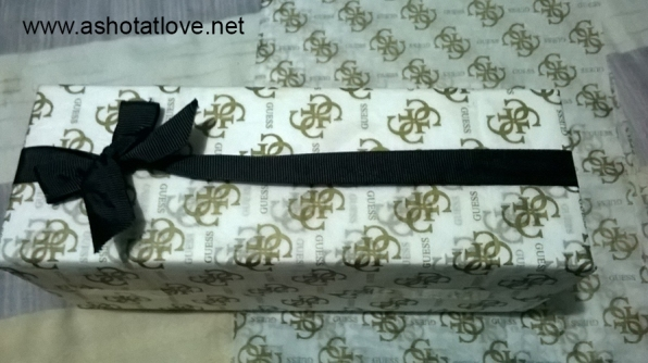 Guess paper from bags that I bought before used as gift wrap