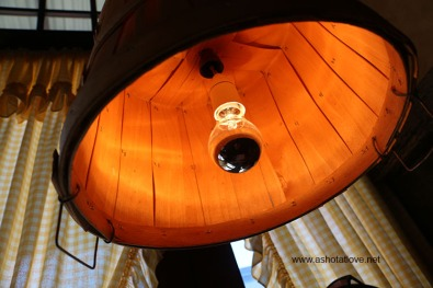 wooden bucket inspired light