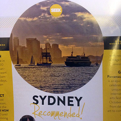 Sydney featured in Scoot inflight magazine