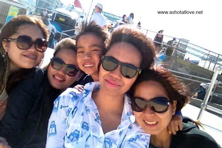 us at Bondi Beach